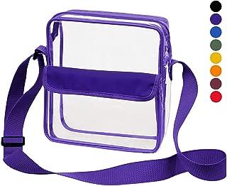 Clear Crossbody Messenger Shoulder Bag with Adjustable...