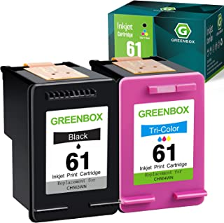 GREENBOX Remanufactured Ink Cartridge 61 Replacement for HP 61XL 61 XL for Envy 4500 5530 5535 Deskjet 1000 1056 1510 1512...