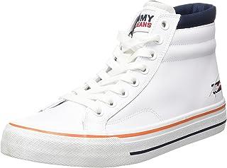 Tommy Jeans Herren Long Lace Midcut Leather TJM Sneaker
