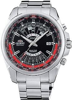 ORIENT Sports Automatic World-Time Multi-Year Calendar with Black Dial Steel Watch EU0B001B