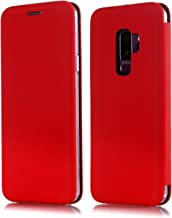 Galaxy S9 Plus Case, Slim Leather Flip Samsung S9 Plus Wallet [kickstand] Magnetic Protective Cover with Card Slot Holder Soft TPU Bumper Back Phone Case for Samsung Galaxy S9 Plus 2018 (Red)