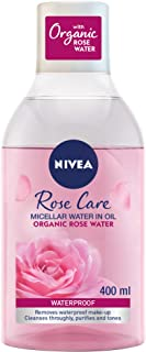 NIVEA Micellar Rose Water Makeup Remover, All Skin Types, 400ml