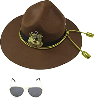 Super State Trooper Mountie Hat Aviators Costume Kit, One Size