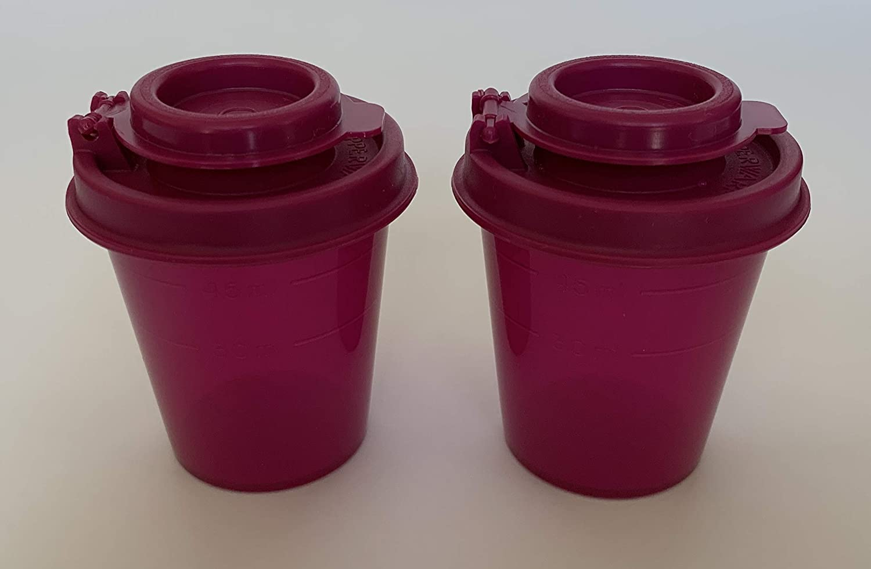 Tupperware Mini Salt & Pepper Shakers 2 Ounce, Magenta / Purple BPA Free