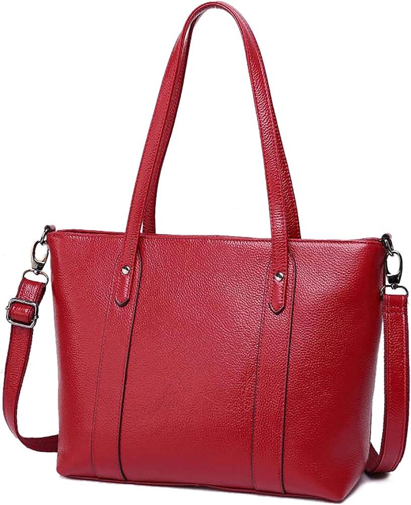 Love labini, borsa da donna, a mano/spalla, in vera pelle, rossa
