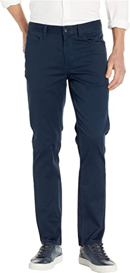 Slim Fit Stretch Five-Pocket Stain Repellent Twill Pants