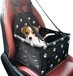 Mumoo Bear Pet Dog Car Booster Seat Carrier Portable Folding Carrier with Seat Belt for Dog Cat up to 25lbs