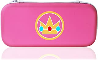 Collectors Edition Princess Peach Nintendo Switch Case By Games Of Future Past | Hard Protective Portable Travel Pouch For Nintendo Gaming Console & Accessories | Durable Outer Shell & Compact Size