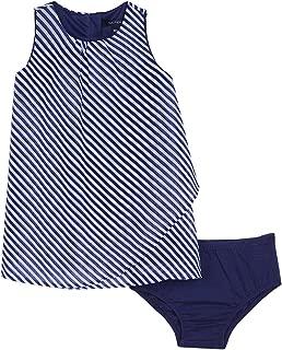 Nautica Girls' Printed Stripe Chiffon Trapeze Dress