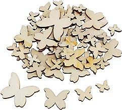 TsunNee confezione da 200 pezzi decorazioni da tavola Decorazioni in legno a forma di farfalla coriandoli per decorazioni fai da te decorazioni fai da te