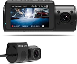 $259 » Vantrue N4 Dash Cam 3 Channel 1440P Front & 1080P Inside & 1080P Rear Dash Camera with Infrared Night Vision, Super Capacitor, 24 Hours Parking Mode, Motion Detection, Time Lapse, Support 256GB Max