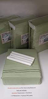 Ultra Soft 4 PC King Waterbed Sheet set FREE Stay Tuck Poles - Sage