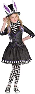 Dark Mad Hatter Costume for Children, Includes a Dress with Jacket, Tights, a Bow Tie, and a Hat