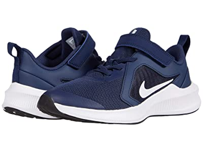 Nike Kids Downshifter 10 (Little Kid) (Midnight Navy/White/Black) Kid