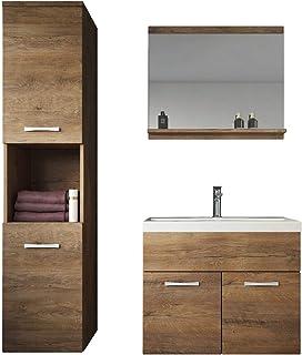 Badplaats B.V. Meuble de Salle de Bain Montreal 60 cm lavabo Lefkas - Armoire de Rangement Meuble lavabo evier Meubles