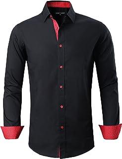 Joey CV Mens Casual Button Down Shirts Long Sleeve Regular Fit