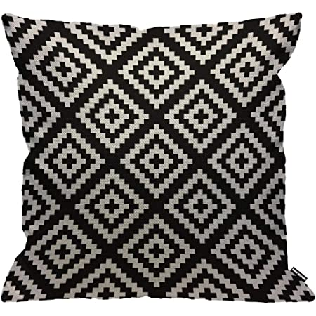 Hgod Designs Black And White Jagged Cushion Cover Navajo Geometric Abstract Throw Pillow Case Home Decorative For Men Women Living Room Bedroom Sofa Chair 18x18 Inch Pillowcase 45x45cm Amazon Co Uk Kitchen Home