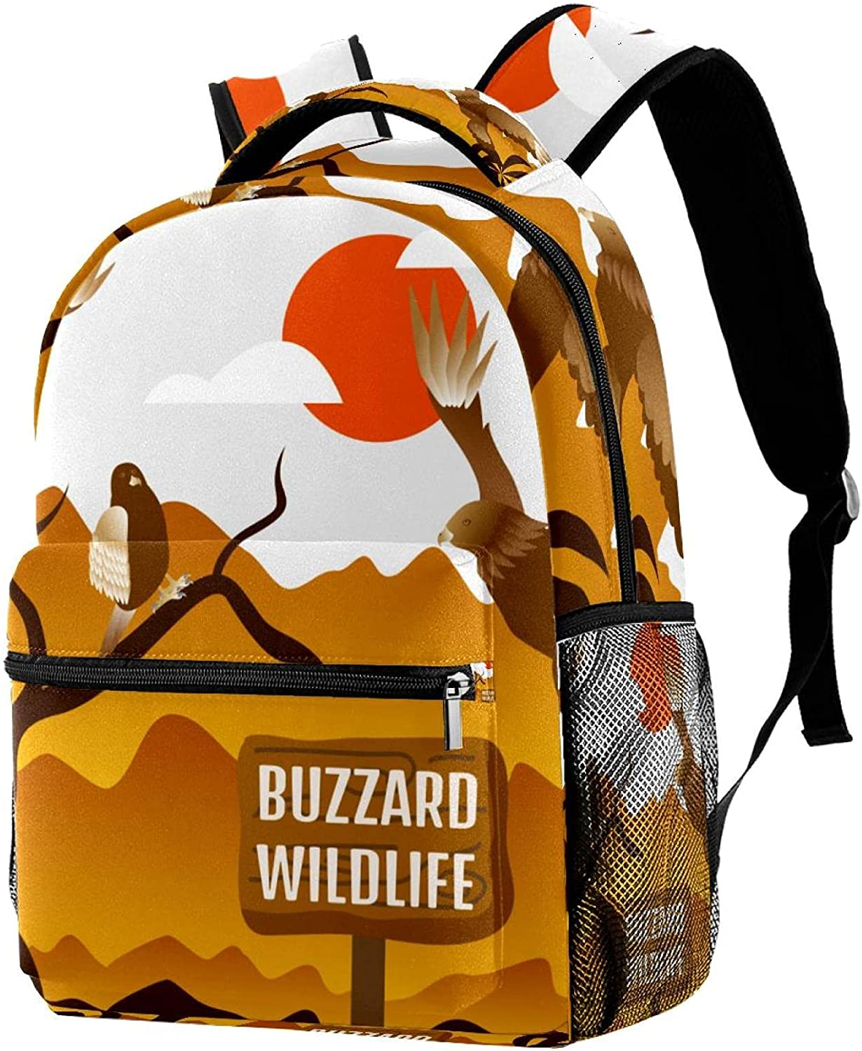 Cute Light Weight Buzzard Wildlife Birds Printing Backpac Sunset NEW before Ranking TOP6 selling ☆