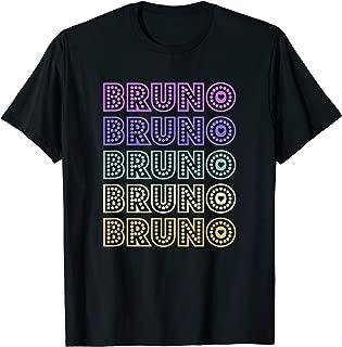 Love Heart Bruno Retro Style T-Shirt Bruno Lover Heart Shirt