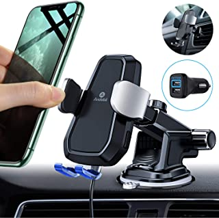 Andobil Automatic Clamping Wireless Car Charger Mount, Qi 10W 7.5W Fast Charging Air Vent Dashboard Phone Holder for iPhone 11 Xs Max XR 8 Plus, Samsung Galaxy S10 S9 S8 Note 10/9 (with QC3.0 Adapter)