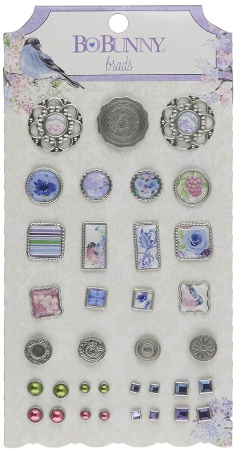 Bo Bunny 19504375 Secret Garden Brads, Multicolor