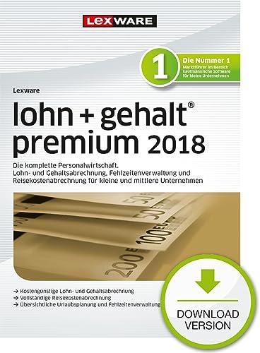 Lexware lohn+gehalt premium 2018 Download Jahresversion (365-Tage) [Online Code]