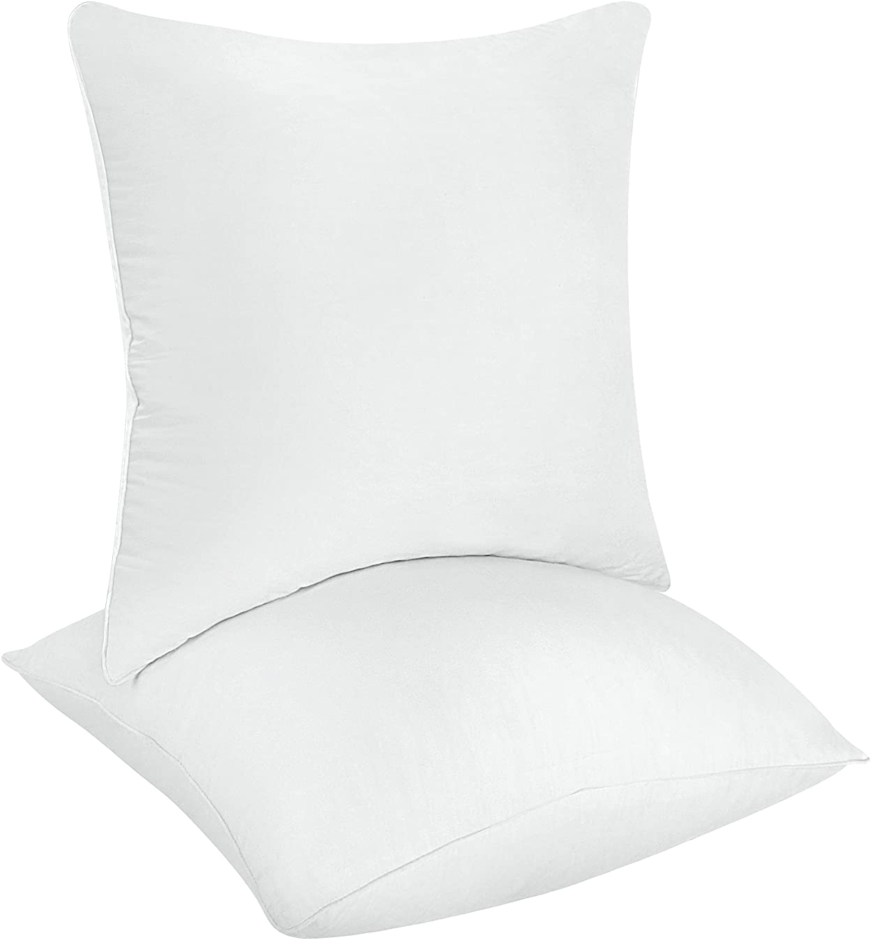 Utopia Bedding Decorative Pillow Inserts (Pack of 2, White) - Square Pillow 18 x 18 Inches Bed and Couch Pillows - Indoor Throw Pillows