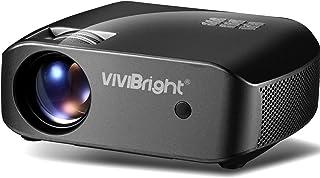 Mini Projector, VIVIBRIGHT f10 Portable Projector, Full HD 1080P Supported Video Projector, 2800White Light Brightness Hom...