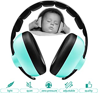 Zoom Time Noise Cancelling Ear Safety Protection Headphones Best Infant Baby Toddler Ear Protection Ages 0-2 Plus Adjustable Headband Sound Cancelling Travel Accessory for Football Games Loud Noises