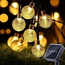 TECHVIDA Guirnalda Luces Solar con 8 modos iluminación, 6.5M/22ft 30 LED Impermeable Cadena de Luces Guirnalda Luminosa pa...