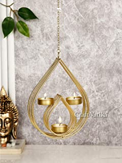 CraftVatika Tealight Candle Holders Wall Hanging for Home Decoration Metal Candle Holder Tea Light Wall Sconces for Living...