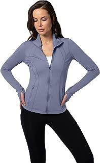 Womens Ultra Soft Lightweight Full Zip Yoga Jacket with Zipper Pockets