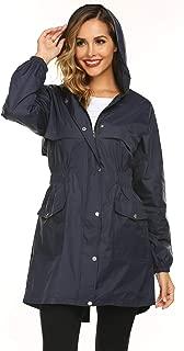 AKEWEI Womens Rain Jacket Lightweight Hooded Waterproof Active Outdoor Quick Dry Running Jacket
