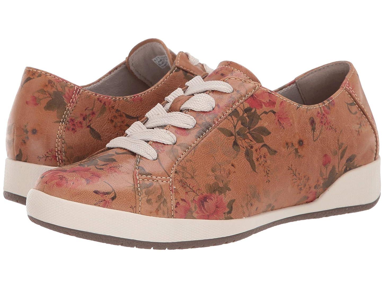 [ダンスコ] レディースウォーキングシューズ?カジュアルスニーカー?靴 Orli Tan Floral Leather 40 (US Women's 9.5-10) (25-25.5cm) Regular [並行輸入品]