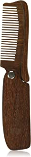 Folding Sandalwood Comb by Groom Houzz - Anti-Static Styling Comb for Men - Perfect Beard Shaper