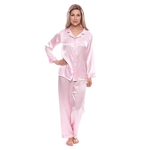 917661054 TexereSilk Women s 100% Silk Pajama Set - Luxury Sleepwear Pjs (Morning ...