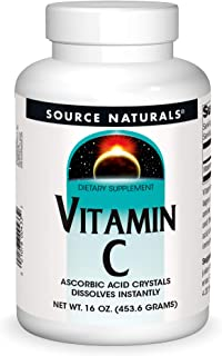 Source Naturals Vitamin C - Ascorbic Acid Crystals That Dissolves Instantly, Dietary Supplement - 16 oz