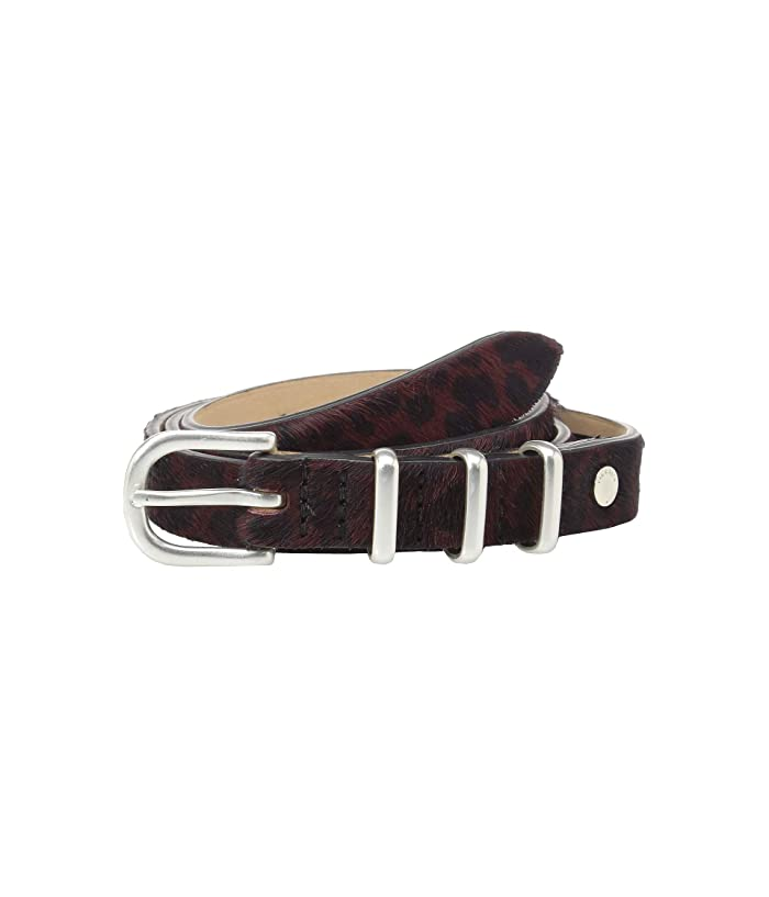 rag & bone Jet Belt (Biking Red Haircalf) Women