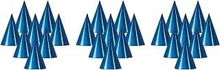 Beistle S66002-BAZ24 Blue Foil Cone Hats, 6.75