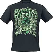 Dropkick Murphys Boston Irish Heart Hombre Camiseta Negro, [Effekte/Besonderheiten] + Regular