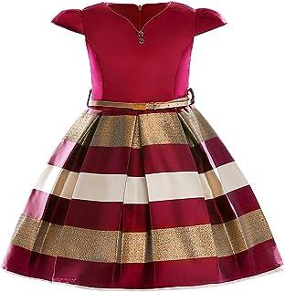 cc3ff9f0aaf69 YuanDian Filles Enfants Bande Robes De Soirée Princesse Manches Courtes  Anniversaire Demoiselle d honneur De