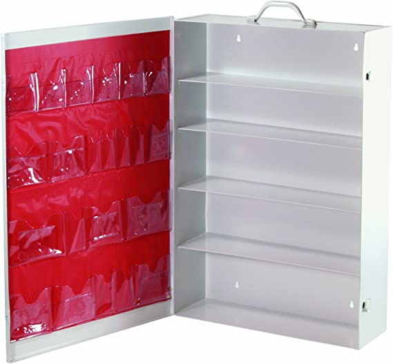 Medique Products 738MTM Five Shelf First Aid Cabinet