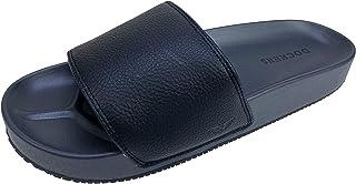 DOCKERS Men's Comfort Sandals Molded Slide, Brown, Black, Size 8-14