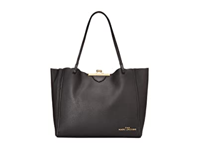 Marc Jacobs The Kisslock Tote (Black) Handbags