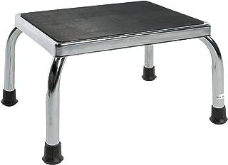 PCP Footstool Metal Frame Non Skid Rubber Platform, Chrome