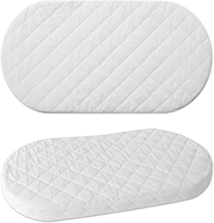 WALDIN Schaumkern Matratze für Baby Stubenwagen, Bollerwagen, oval