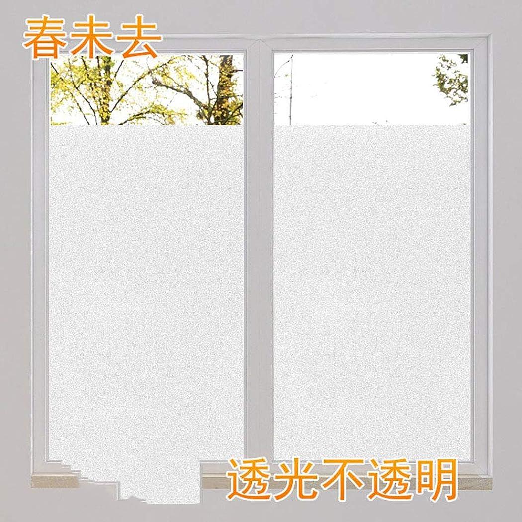 海嶺気づくなる群集神馬 窓 めかくしシート 窓用フィルム すりガラス調 ガラスフィルム 水で貼る 貼り直し可能目隠しシート 断熱遮熱シート UVカット 艶消