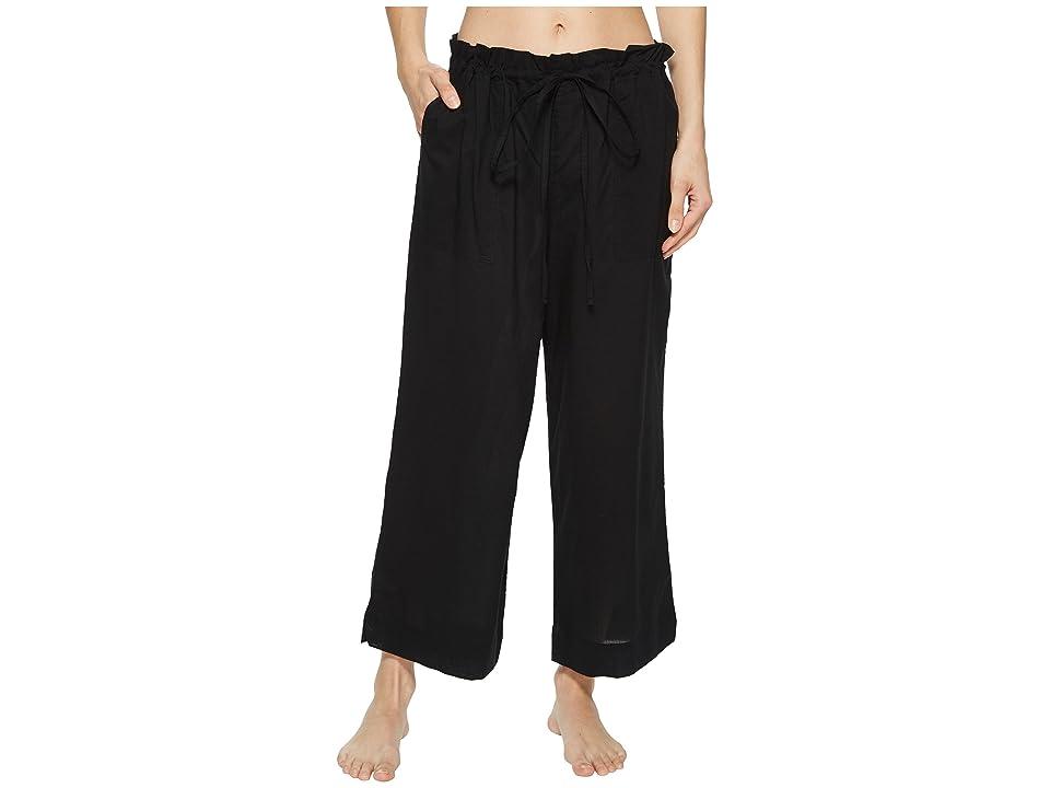 Commando Cotton Voile Crop Pants CV102 (Black) Women