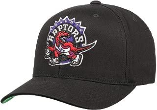 Mitchell & Ness Toronto Raptors INTL537 Cotton Team Logo Pinch Panel 110 Curved Flexfit Snapback Cap One Size