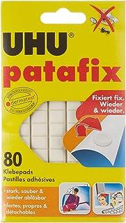 UHU Patafix Pastilles adhésives repositionnables décollables Blanc - Lot de 80 pastilles